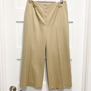Talbots Stretch Beige Wide Leg Crop Pants